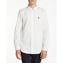 Buy Paul Smith Oxford Button Down Long Sleeve Shirt, White Online at johnlewis.com