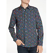 Buy PS by Paul Smith Floral Long Sleeve Shirt, Navy Online at johnlewis.com