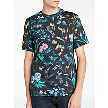 Buy PS by Paul Smith Alpine Floral T-Shirt, Black Online at johnlewis.com