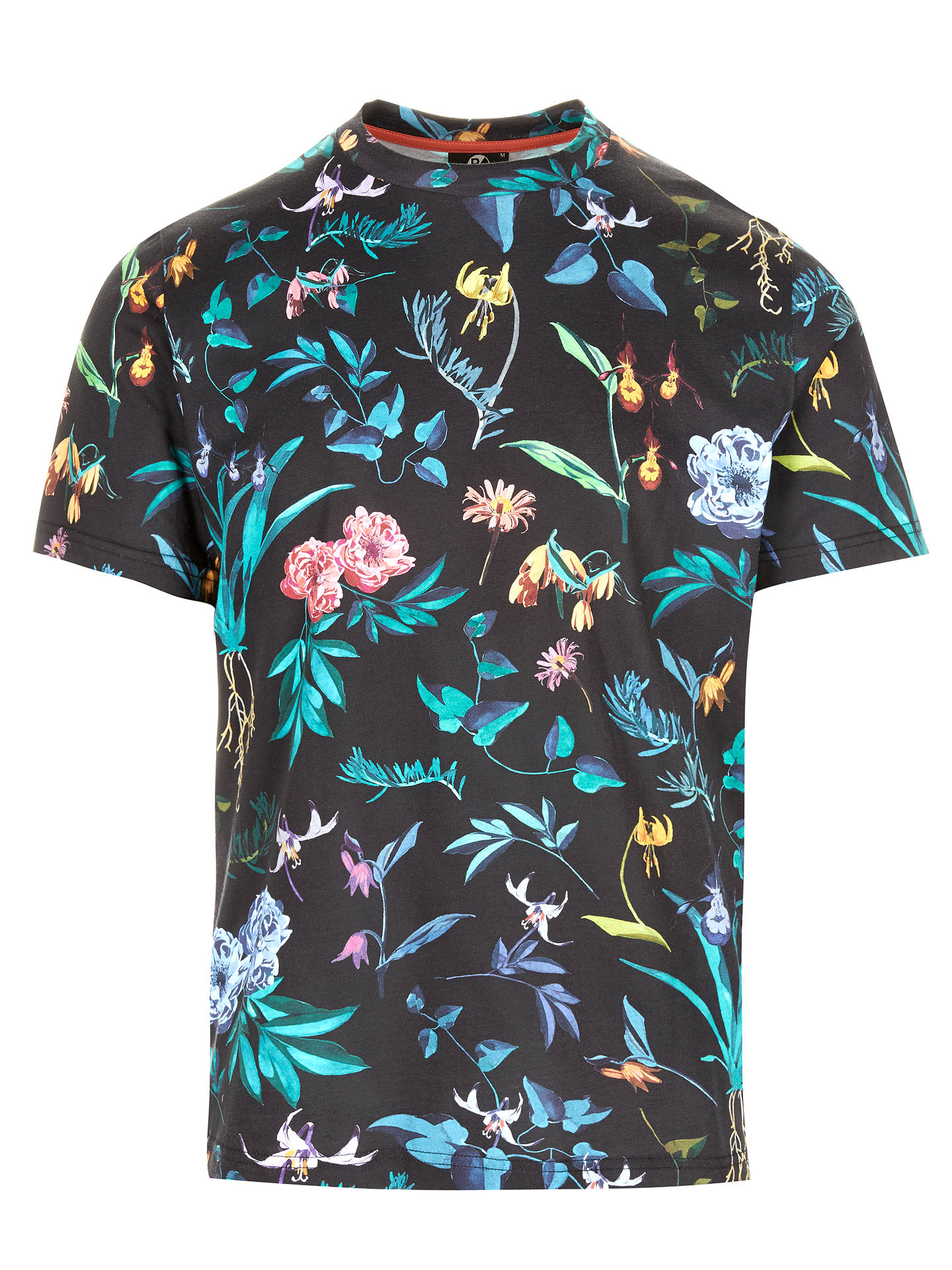 Ps Paul Smith Alpine Floral T Shirt Black At John Lewis Partners Polo Buyps M Online Johnlewis