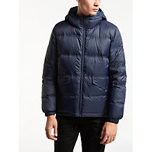 Buy PS by Paul Smith Down Hooded Jacket, Navy Online at johnlewis.com