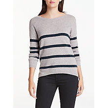 Buy Wyse London Marielle Stripe Cashmere Jumper Online at johnlewis.com