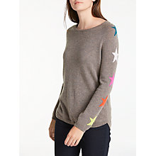 Buy Wyse London Luca Star Sleeve Cashmere Jumper, Mink Online at johnlewis.com