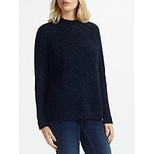 Buy Great Plains Speckle Knit Polo Neck Jumper, Classic Navy Speckle Online at johnlewis.com