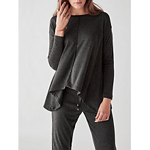 Buy Great Plains Sydney Jersey Full Hem Top, Granite Grey Melange Online at johnlewis.com