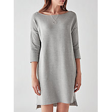 Buy Great Plains Kitten Soft Long Sleeve Tunic Dress, Granite Grey Melange Online at johnlewis.com