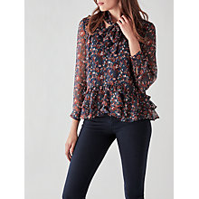 Buy Great Plains Highland Floral Tassel Blouse, Paprika Red Multi Online at johnlewis.com