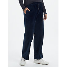 Buy Great Plains Wren Velvet Drawstring Trousers, Classic Navy Online at johnlewis.com