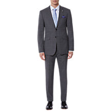 Buy Ted Baker Vienaj Check Tailored Suit Jacket, Grey Online at johnlewis.com