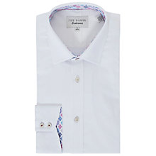 Buy Ted Baker Abaco Herringbone Weave Tailored Fit Shirt, White Online at johnlewis.com