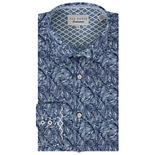 Buy Ted Baker Messera Print Tailored Fit Shirt, Navy Online at johnlewis.com
