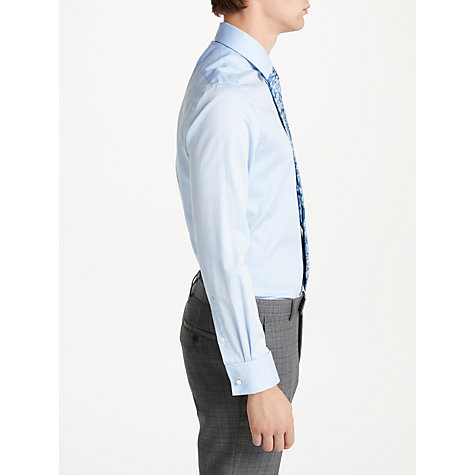Buy Richard James Mayfair Jacquard Slim Fit Shirt, Light Blue Online at johnlewis.com