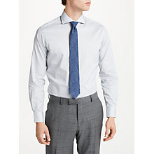 Buy Richard James Mayfair Diamond Print Slim Fit Shirt, Light Grey Online at johnlewis.com