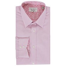 Buy Ted Baker Hooch Semi Plain Tailored Fit Shirt Online at johnlewis.com