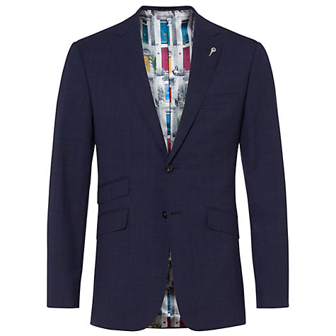 Buy Ted Baker Vienaj Check Tailored Suit Jacket, Blue Online at johnlewis.com