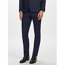 Buy J.Lindeberg Soft Comfort Wool Slim Fit Suit Trousers, Navy Online at johnlewis.com