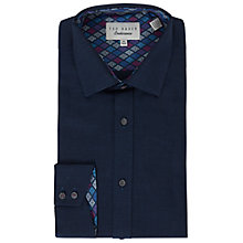 Buy Ted Baker Campero Tailored Fit Shirt, Navy Online at johnlewis.com
