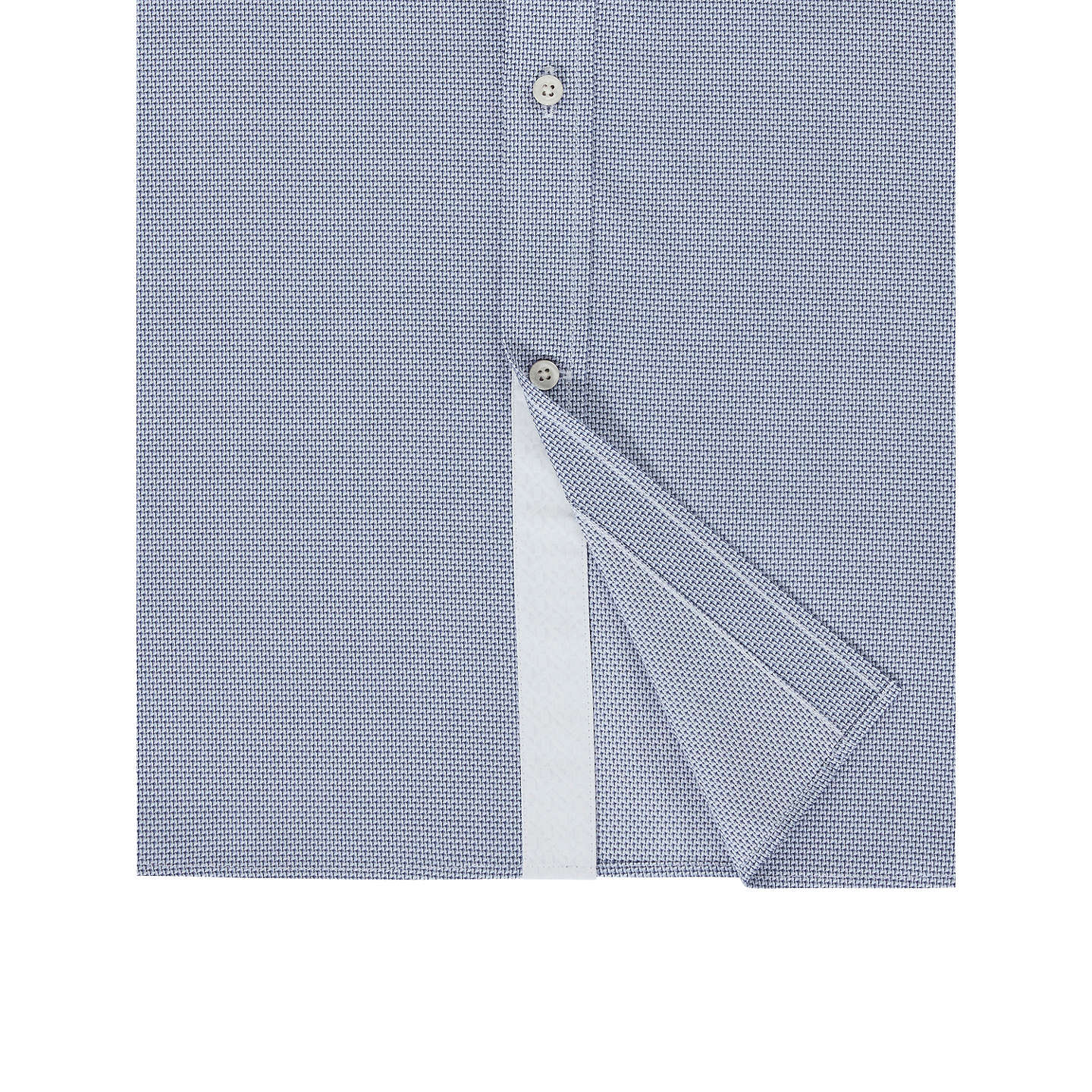 BuyTed Baker Murgese Mini Geo Tailored Fit Shirt, Grey, 15 Online at johnlewis.com