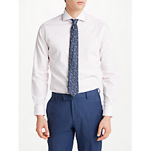 Buy Richard James Mayfair Dobby Check Slim Fit Shirt, Pink/White Online at johnlewis.com