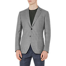 Buy Reiss Campbell Wool Linen Slim Fit Blazer, Light Grey Online at johnlewis.com