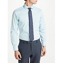 Buy Richard James Mayfair Chambray Slim Fit Shirt, Aqua Green Online at johnlewis.com