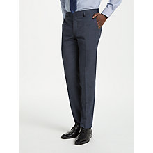 Buy Richard James Mayfair Melange Check Slim Suit Trousers, Indigo Online at johnlewis.com