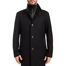 Buy HUGO by Hugo Boss Barelto Coat, Black Online at johnlewis.com