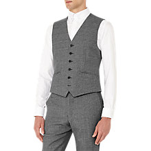 Buy Reiss Bronson Salt and Pepper Wool Slim Fit Waistcoat, Charcoal Online at johnlewis.com