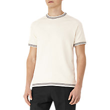 Buy Reiss Homage Piped Cotton T-Shirt, Ecru Online at johnlewis.com