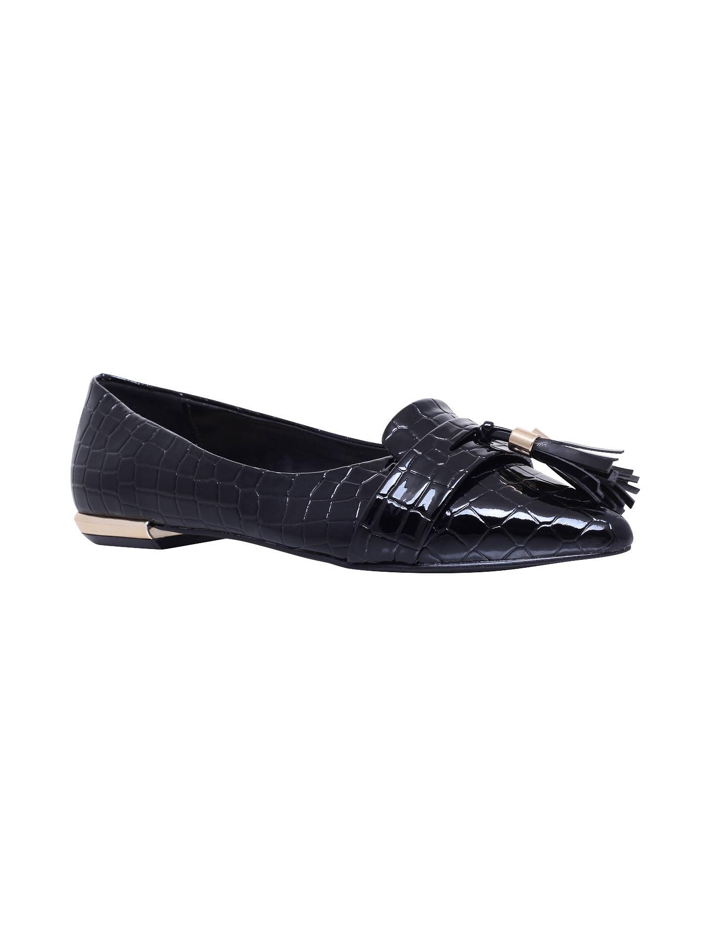 cc9166c457 Buy Miss KG Nikki Tassel Pointed Flat Court Shoes, Black, 3 Online at  johnlewis ...