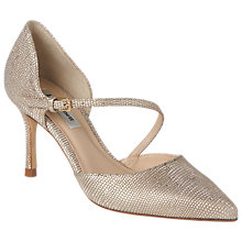 Buy L.K. Bennett Alix Stiletto Heeled Court Shoes, Platinum Blush Online at johnlewis.com