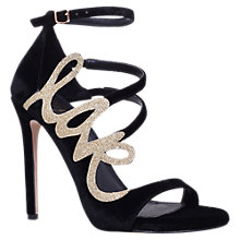 Buy Kurt Geiger Hex Stiletto Heeled Sandals, Black Online at johnlewis.com