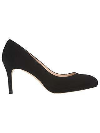L.K.Bennett Sybila Platform Court Shoes, Black Suede