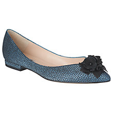 Buy L.K. Bennett Poppie Pointed Toe Flower Pumps, Powder Blue Online at johnlewis.com
