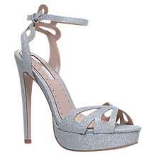 Buy Miss KG Fabienne Stiletto Heeled Sandals, Silver Online at johnlewis.com