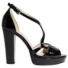 Buy Karen Millen Strappy Platform Sandals, Black Online at johnlewis.com