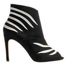 Buy Karen Millen Striped Stiletto Heeled Shoe Boots, Black/White Online at johnlewis.com