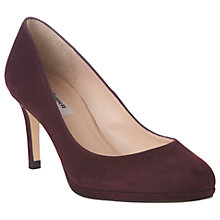 Buy L.K. Bennett Sybila Platform Court Shoes, Oxblood Red Suede Online at johnlewis.com