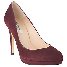 Buy L.K. Bennett Sledge Platform Court Shoes, Oxblood Red Suede Online at johnlewis.com