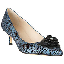 Buy L.K. Bennett Portia Flower Pointed Toe Court Shoes, Powder Blue Online at johnlewis.com