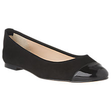 Buy L.K. Bennett Suzanne Ballet Pumps, Black Suede Online at johnlewis.com