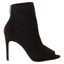 Buy Karen Millen Knitted Stiletto Heeled Shoe Boots, Black Online at johnlewis.com