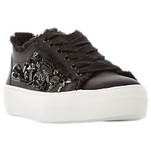Buy Steve Madden Greed Embellished Flatform Trainers Online at johnlewis.com