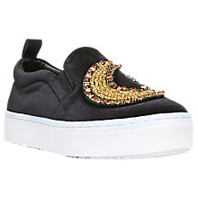 Buy Sam Edelman Leila 2 Stars and Moon Trainers, Black Online at johnlewis.com