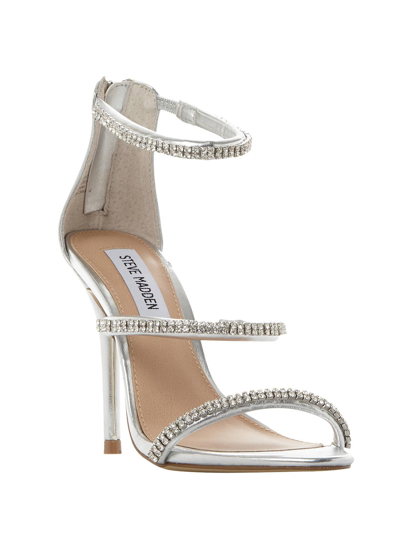 479aa0cc87 Buy Steve Madden Wren-R SM Jewelled Strap Stiletto Sandals, Silver, 5  Online ...