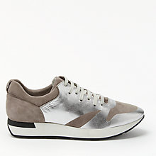 Buy Modern Rarity E Mursia Foil Trainers, Dark Taupe Online at johnlewis.com