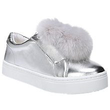 Buy Sam Edelman Leya Pom Flatform Trainers, Silver Online at johnlewis.com