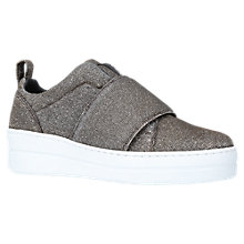 Buy Kurt Geiger Labelle Slip On Flatform Trainers,  Metal Combination Online at johnlewis.com