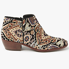 Buy Sam Edelman Petty Tapestry Block Heeled Ankle Boots, Multi Online at johnlewis.com
