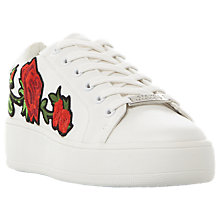 Buy Steve Madden Bertie-P Flatform Trainers, White Online at johnlewis.com